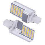 2 pcs Ding Yao G24 5W 25SMD 5050 600-700LM 2800-3500/6000-6500K Warm White/Cool White Bi-pin Lights AC 85-265V