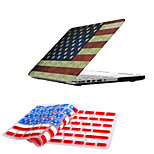Newest Fashion American Flag Pattern Full Body Hard Case with TPU Keyboard Cover for Macbook Pro 15.4 inch