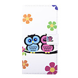 Love Owl Pattern PU Leather Full Body Case with Stand and Card Slot for Sony Xperia C4