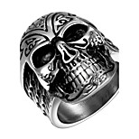 Terrorist Skulls Totem Exaggerated Personality Rock Titanium Steel Stainless Steel Men's Ring