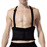 Ollas Unisex Outdoor Fitness Black Nylon Mesh Double Pressure High-elastic Waist Protector with Spring S9303