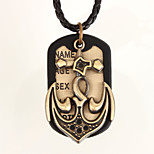 Vilam® Leather Big Pirate Ship Anchor Dog Tag Pendant Necklaces Daily/Sports 1pc