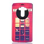 Red Pavilion Pattern Quality Bracket Case for LG G4