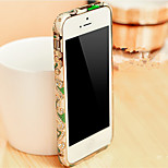 Iphone5 / 5S / 5C Ethnic Chinese style retro diamond phone shell metal frame painted pottery diamond S-0008-1