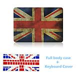 la moda el diseño del Union Jack estuche rígido de cuerpo completo con la cubierta del teclado del tpu para el macbook retina 15,4