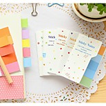 Han edition creative stationery color pad (Random Color)