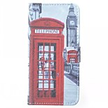 Telephone Booth Pattern PU Leather Case  for Sony Xperia Z3