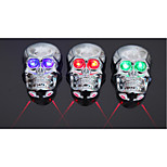 Rear Bike Light,Skull Style Waterproof Cycling Laser Taillight,Safety