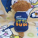 Camiseta - Verão - Azul - Fashion - de Algodão - para Cães - XS / S / M