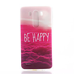 Red Cloud Pattern TPU Material Soft Phone Case for LG G3