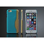 PU GuChi Grain Horizontal card Back cover for iPhone6(Assorted Color)