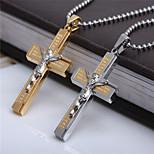 Unique Stereoscopic Jesus Titanium-Steel Pendant(Gold)(1Pc)