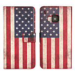 Magic Spider® America Flag Pattern Wallet Design PU Full Body Case with Screen Protector for HTC M9