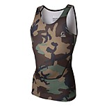 PRO Super Fit Fasion Camouflage Color High Elastic Fitness Runing and Cycling Vest Male