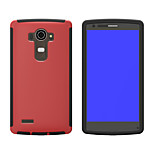 Multicolor TPU + PC + Touch Phone Case For LG G4  (Assorted Color)