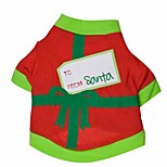 Lovely Christmas Envelopes Pattern T-Shirts for Pets Dogs (Assorted Colors, Sizes)