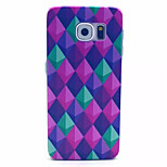Light Green Prismatic Pattern PC Hard Case for Samsung Galaxy S6