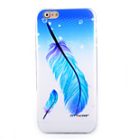 Blue Feather Pattern Slim TPU Material Phone Case for iPhone 6