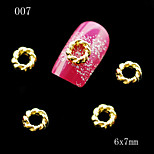 007 10pcs/lot Golden Metal Round Shape Nail Alloy Rhinestone Nail Sticker for DIY Nail Jewelry
