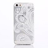 White Printing Pattern TPU Material Soft Phone Case for iPhone 5/5S