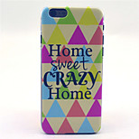 Warm Home Pattern Plastic Hard Cover for iPhone 6