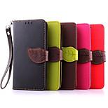 Luxury PU Leather Skin Flip Stand Case For LG G3Mini Phone Shell Leaf Pouch Wallet Handbag+Lanyard+Card Slot