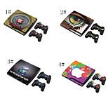 PS3의 플레이 스테이션 3 슬림 + 2 컨트롤러 스킨 스킨 스티커 커버 데칼