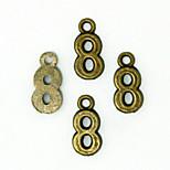 Beadia 100PCS Antique Bronze Alloy Charms 8x15mm Number 8 Pendants DIY Accessories