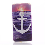White Anchors Pattern TPU Material Phone Case for LG G3