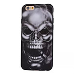 Skull Pattern Painted Imitation Leather TPU Material Phone Case for iPhone 6