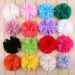 5Pcs DIY Handmade Candy-Color Chiffon Tassel Flowers for Headbands, Scrapbooking and More Decoration(Random Delivery)