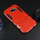 삼성 갤럭시 S6 가장자리 받침대와 철인 하드 케이스 보호 커버