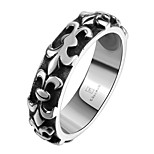 Round Design RingPunk Style Titanium Fashion Jewelry For Women And Men Dress Accessories