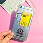 3D Beer Pattern TPU Soft with Screen Protector For iPhone 6