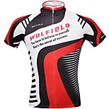 WOLFBIKE Men's Summer Sport Bike Cycling Bicycle Quick Dry Top Breathable Zipper Short Sleeve Shirt