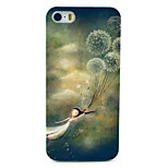 Dandelion  Pattern Transparent Frosted PC Back Cover  For iPhone 5/5S