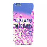 Just Happy Pattern PC Hard Case for iPhone 6 Plus