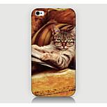 gafas de caso del patrón del gato de la contraportada para iPhone4 / 4s