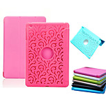 Simple  Hollow Out Triple Fold Silk Print PU Leather Plus PC Stand Case for iPad mini/mini2/mini3(Assorted Colors)