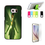The Girl Design Hard Case with Screen Protector and Stand Holder for Samsung Galaxy S6