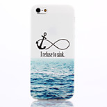 Anchors Pattern TPU Material Phone Case for iPhone 5/5S