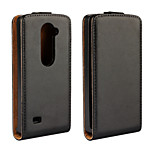 Vertical Flip Magnetic Button Genuine Leather Case for LG Leon 4G LTE H324 H340N C40 C50