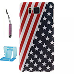 Stars And Stripes  Pattern TPU Phone Case  for Samsung Galaxy Alpha/G850
