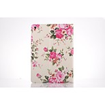 Rose Picture PU Leather Full Body TPU Case with Card Holder for Ipad Air