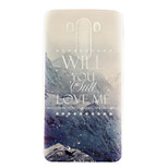 Snow Mountain Pattern TPU Material  Phone Case for LG G3 MINI