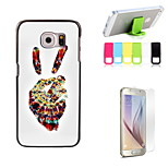 Yeah Design Hard Case with Screen Protector and Stand Holder for Samsung Galaxy S6