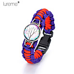 Lureme®Europestyle Brief Purple Intertwine  Red Weave Parachute Cord  Life Tree Time Gem   Alloy Bracelet
