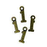 Beadia 100PCS Antique Bronze Alloy Charms 4x15mm Number 1 Pendants DIY Accessories