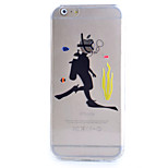 Slim Transparent Diving Pattern Soft Phone Case for iPhone 6