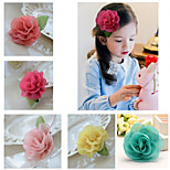 5Pcs DIY Handmade Chiffon Flower for Headbands, Scrapbooking and More Decoration(Random Delivery)